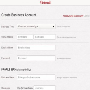 Create 300x300 Pinterest for Business Launched