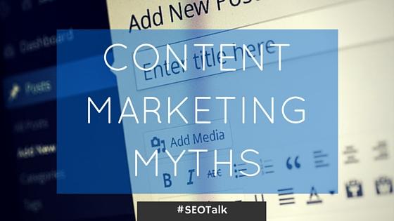 content marketing myths