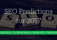 seo predictions for 2017