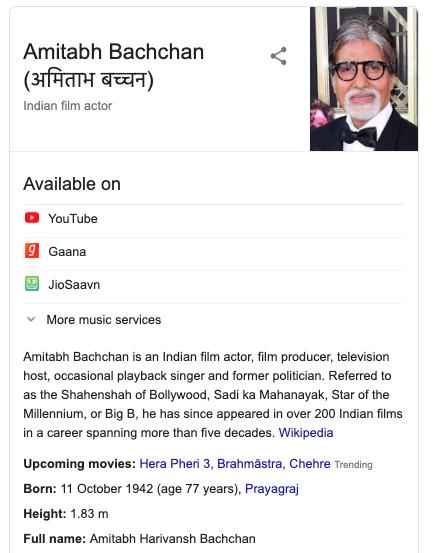 AB Google Knowledge Panel